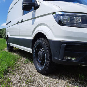 VW Crafter Fahrwerk Baujahr 2016 Frontansicht